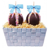 Blue Caramel Apple Spring Gift Basket