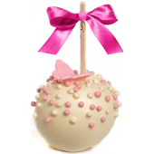 Butterfly Pearls Caramel Apple w/ White Belgian Chocolate