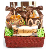 Autumn Red Seagrass Gift Basket