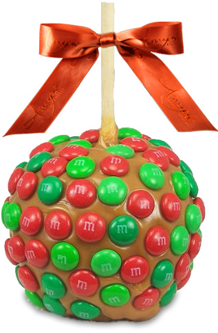 Seasonal M&M Caramel Apple