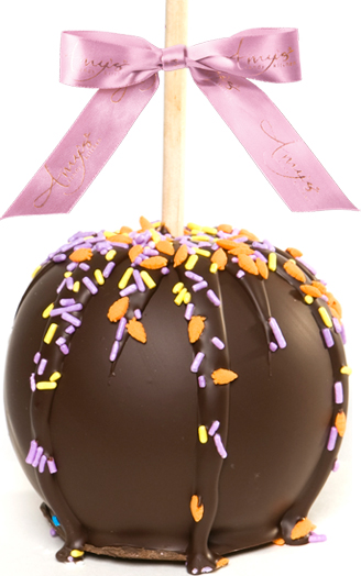 Gourmet Easter Caramel Apple Dunked W/Dark Belgian