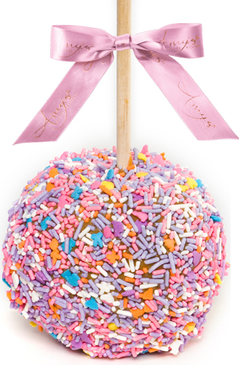 Gourmet Easter Caramel Apple W Sprinkles