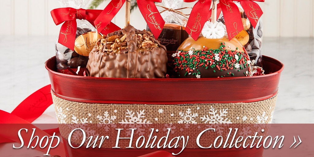 amys gourmet chocolate candy caramel apples - Christmas Candy Apples