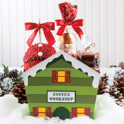 Santa's Workshop Gift Basket
