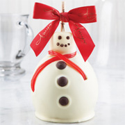 Holiday Snowman Caramel Apple