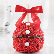 Santa Sprinkle Caramel Apple