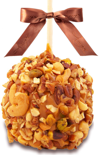 Mixed Nut Caramel Apple