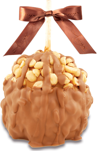 Peanut Turtle Caramel Apple W/Belgian Chocolate