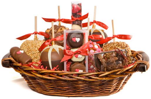 Gourmet Large Caramel Apple Gift Basket