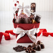 Red Foil Gift Basket