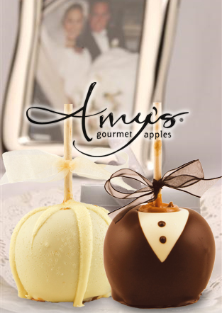 Bride Groom Decorated Candy Wedding Apples Wedding Favors